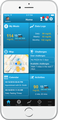 SugarCube Diabetes Mobile App Dashboard Feature
